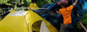 Как собрать палатку